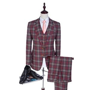 Other - Three piece patterned wool suit